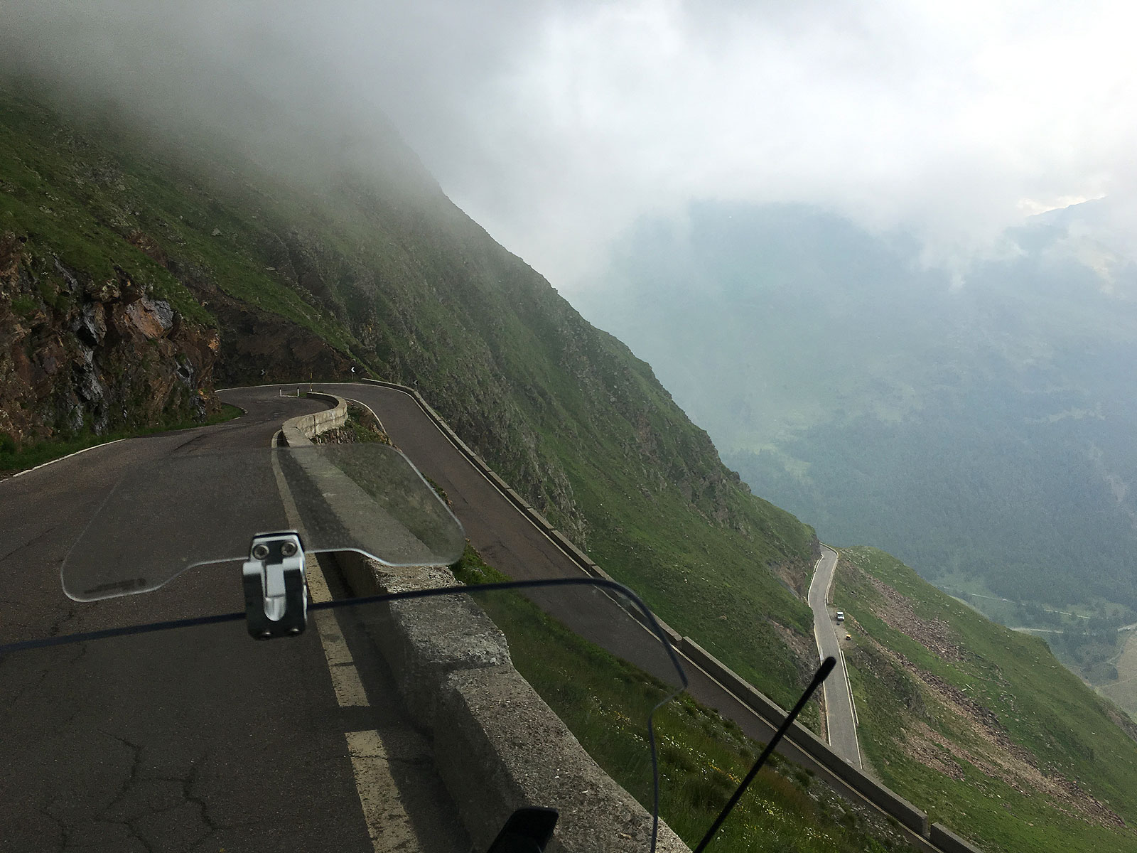 Just crossed the mountain pass Timmelsjoch over to Italy - July 2016