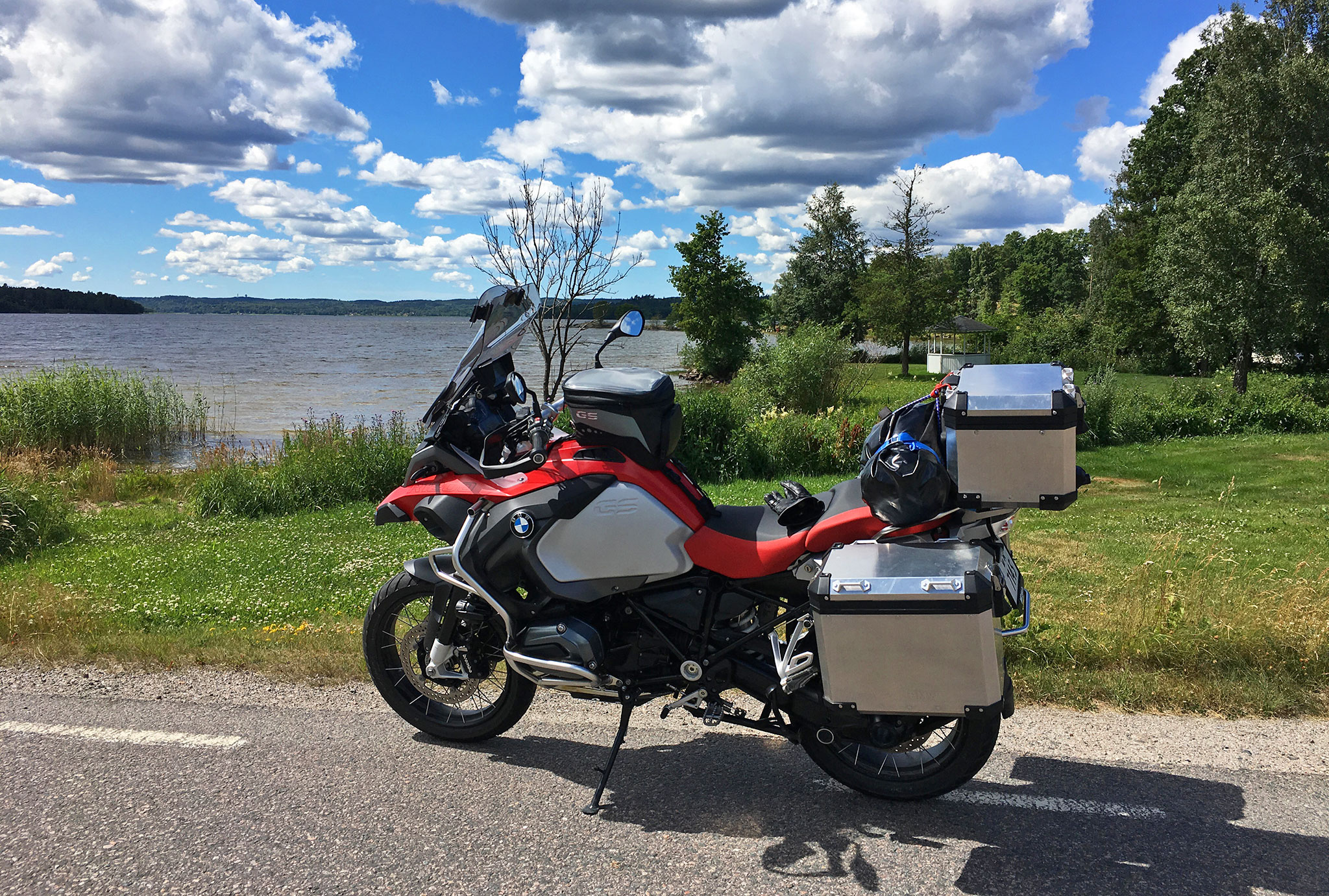 "Sweden is loaded with twisty backroads, gravel and pavement. I took these ""smallways"" for the most part"