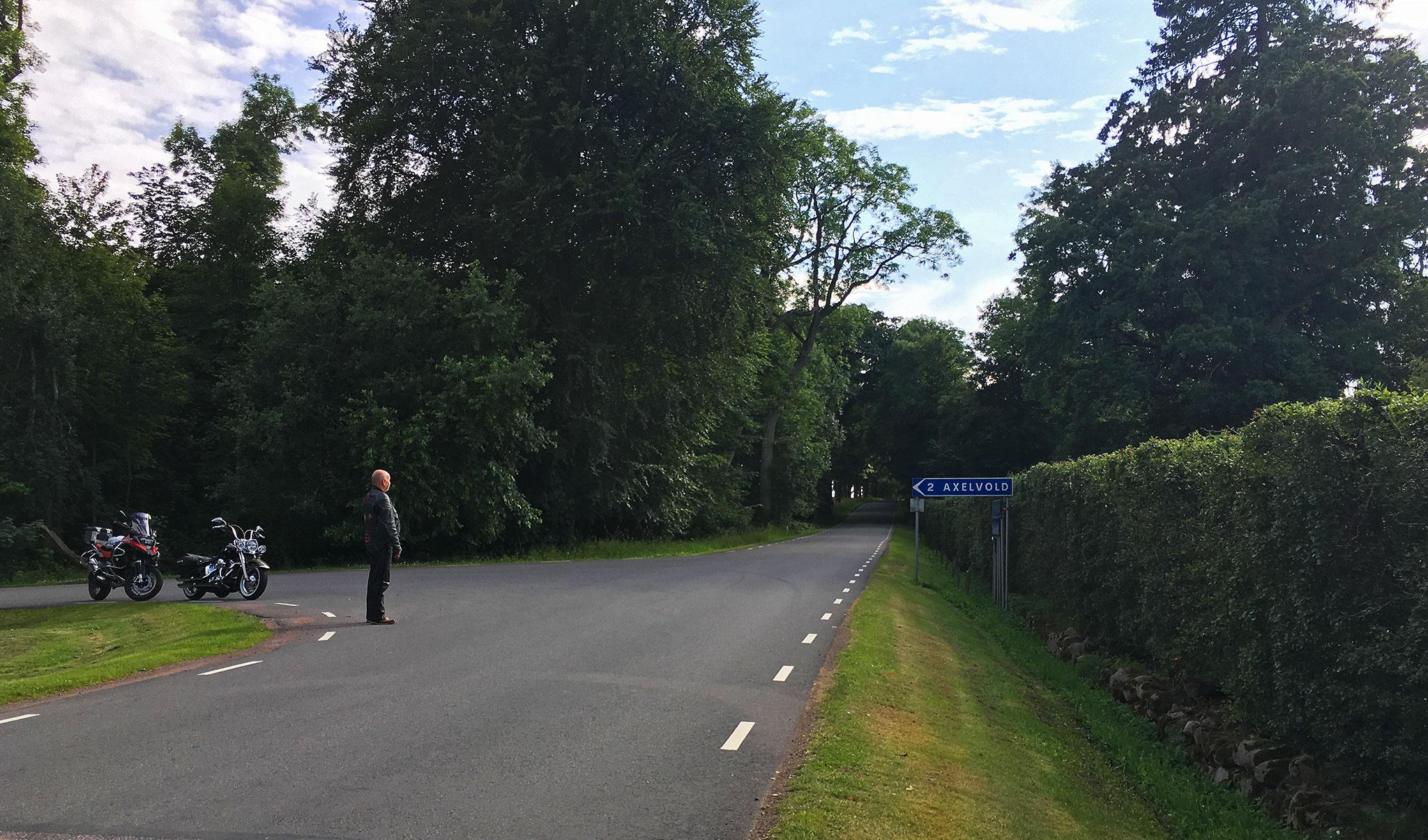 Smallways intersection in Skåne