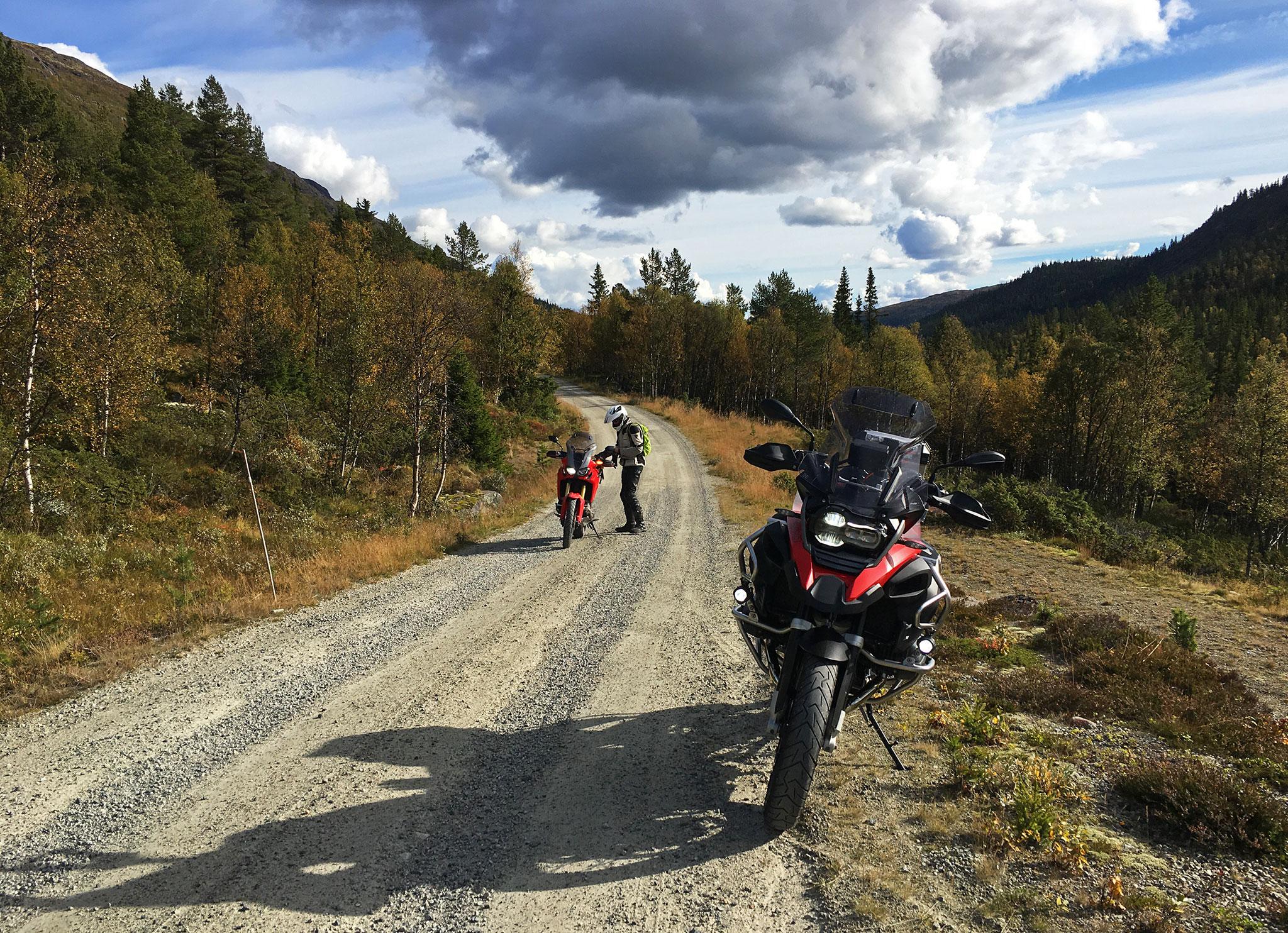 Gravel roads Norwegian style