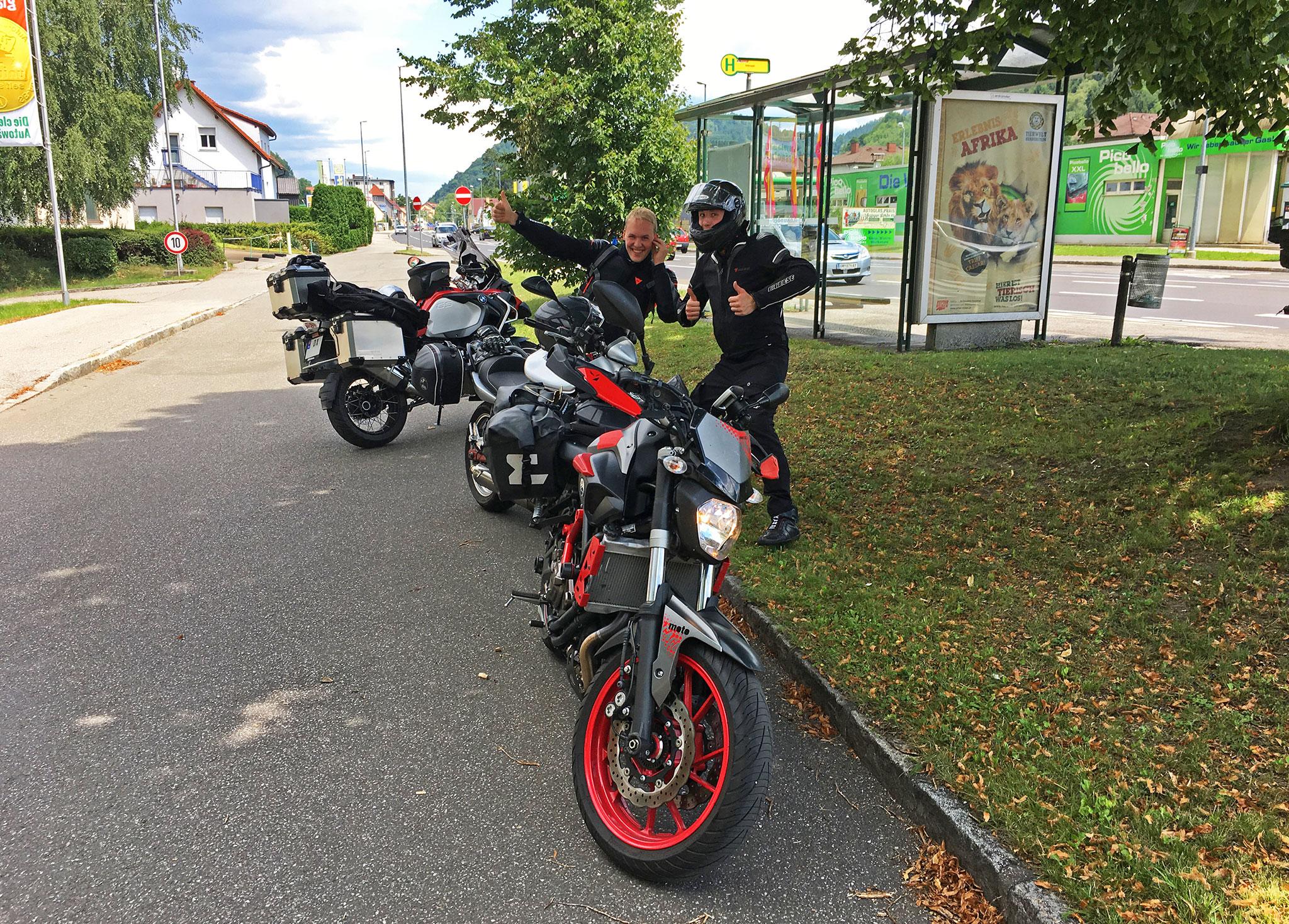 Young MC Riders roadside