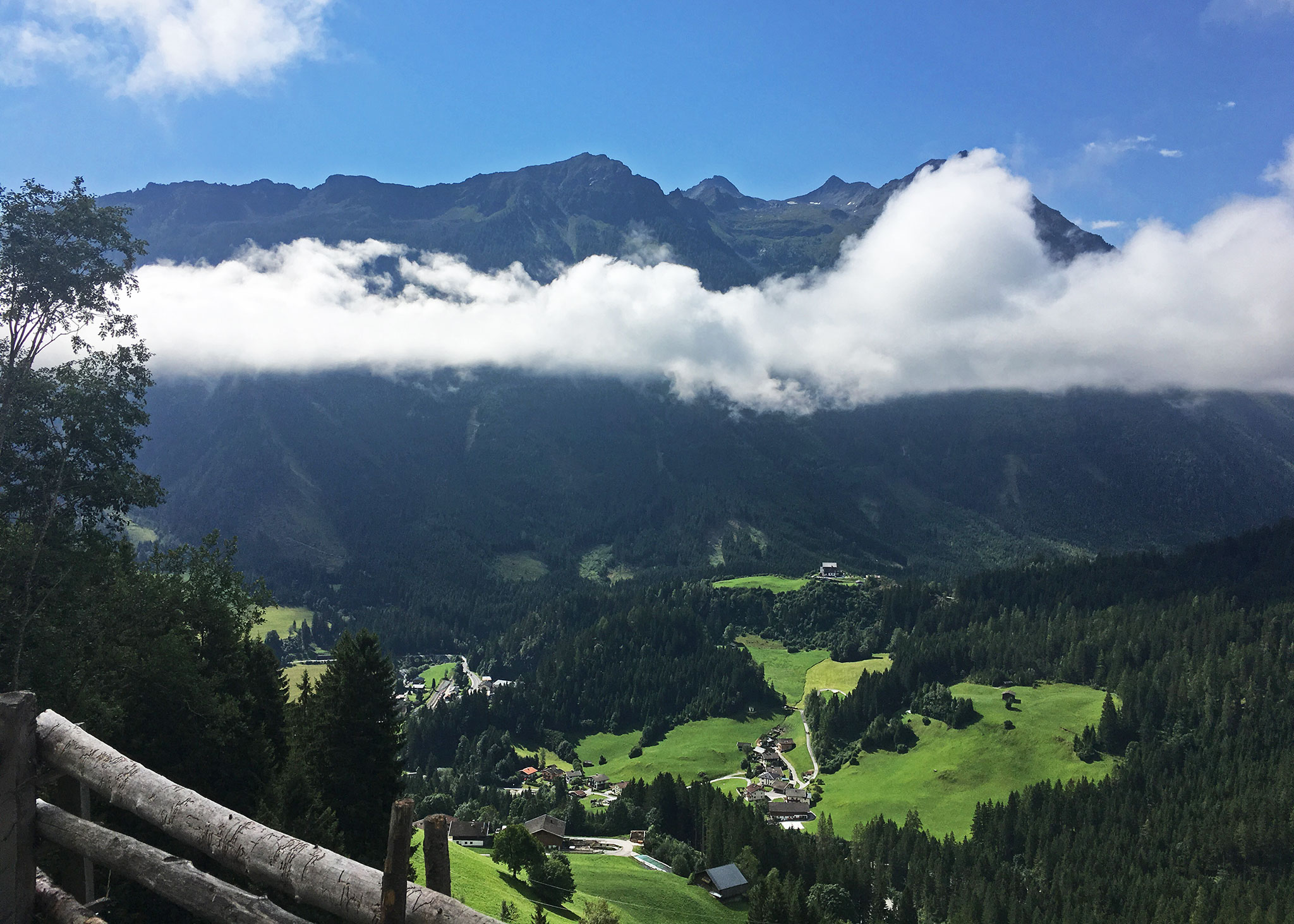 Riding up mountain side towards Zell am Ziller had views like this in plenty
