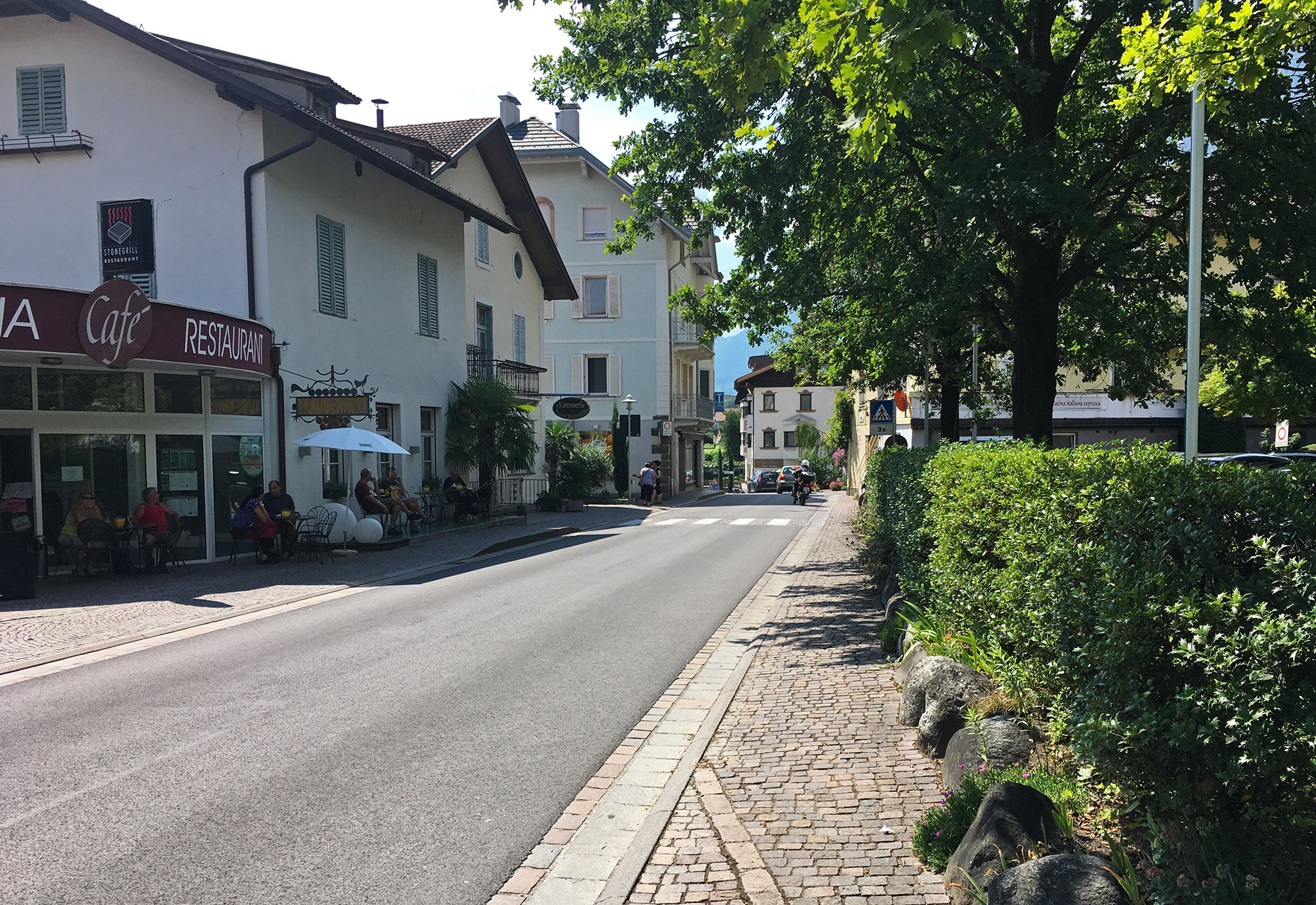 Street view in Meran, didn't even bother to get off (too hot)