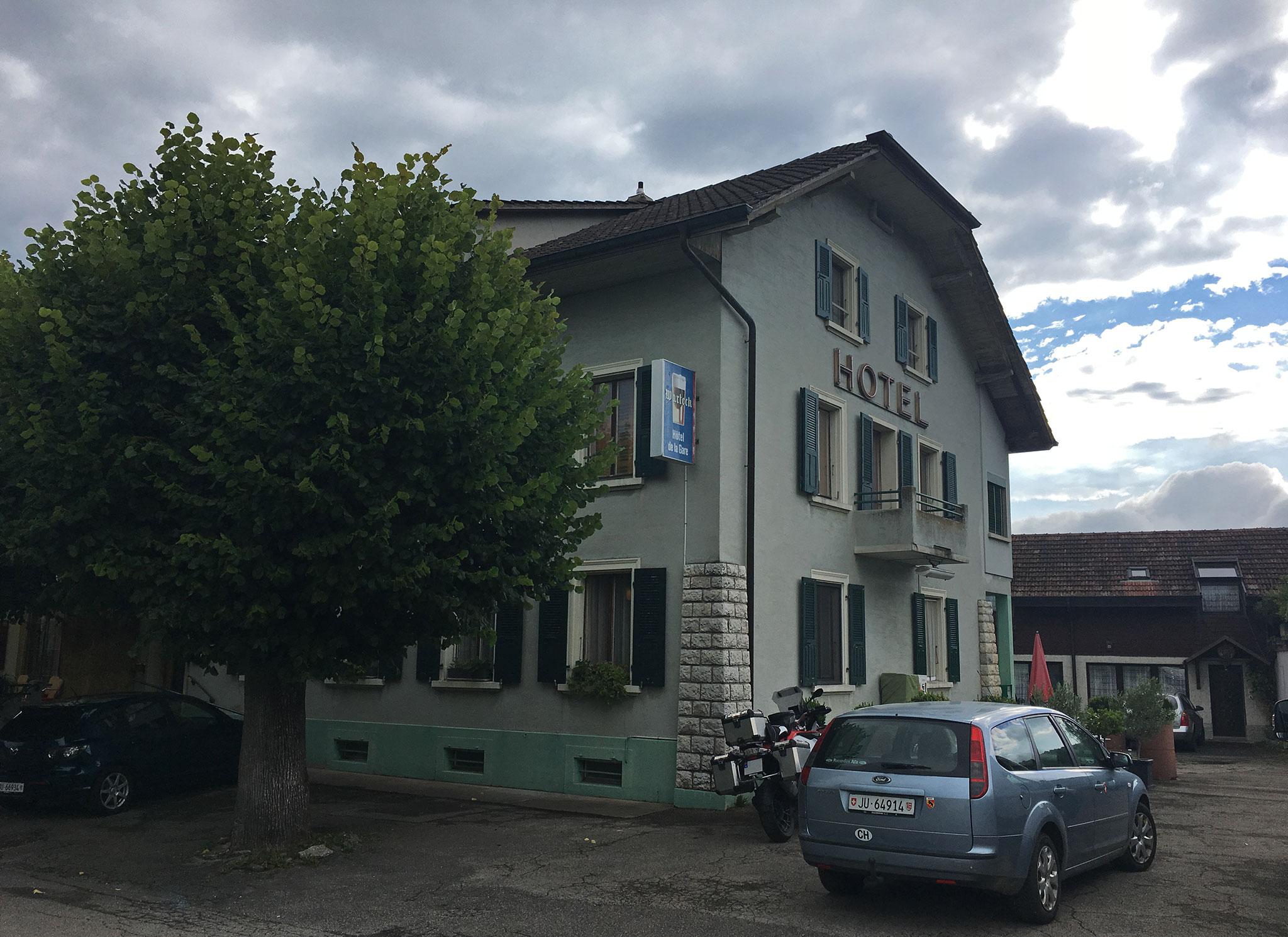 Hotel de la Gare in Vendlincourt, local restaurant, waterhole/pub