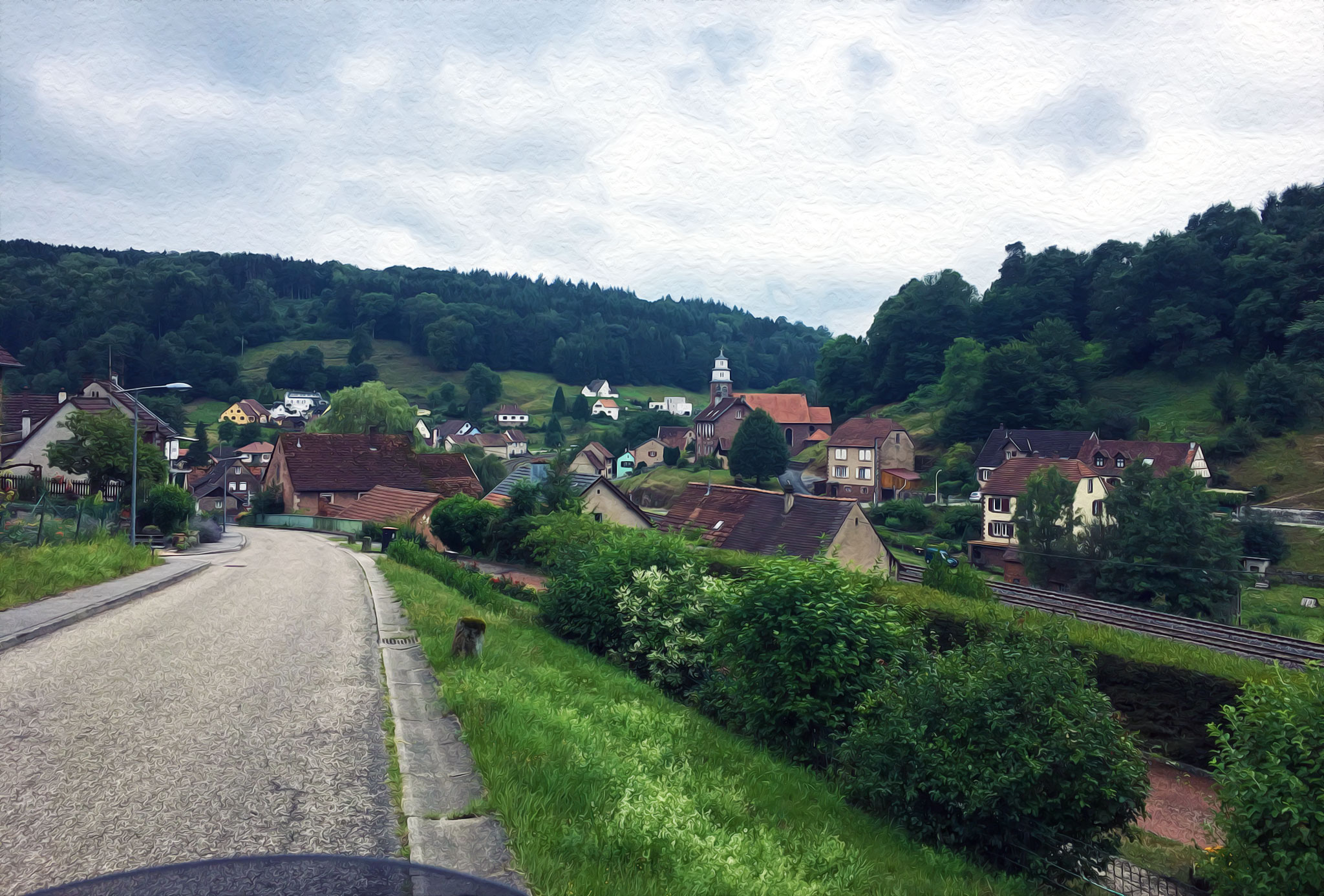 In the area and village of Hinsbourg. Added a little artistic touch :)