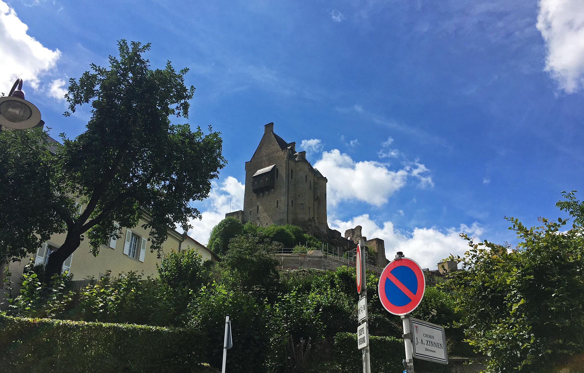 Larochette, a small town in Luxembourg here represented by the Larochette Castle