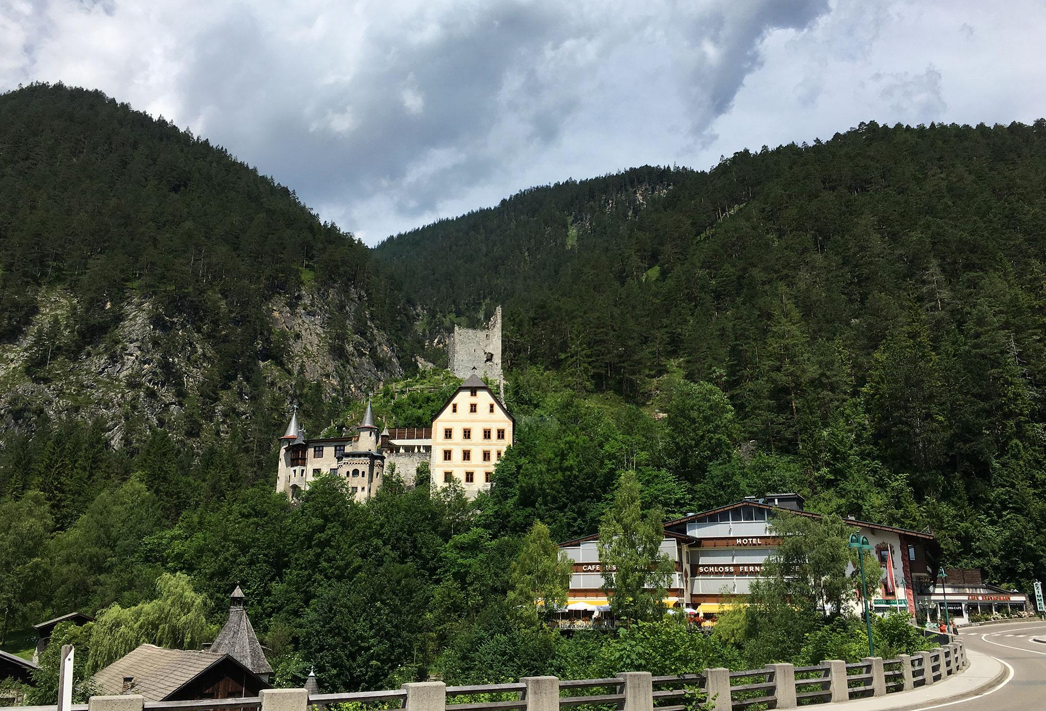 Along the road passing Schloss Fernsteinsee.
