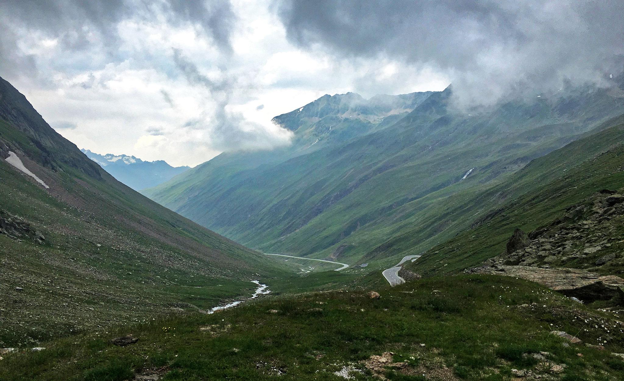 Along Timmelsjoch high alpine road, with breathtaking scenery