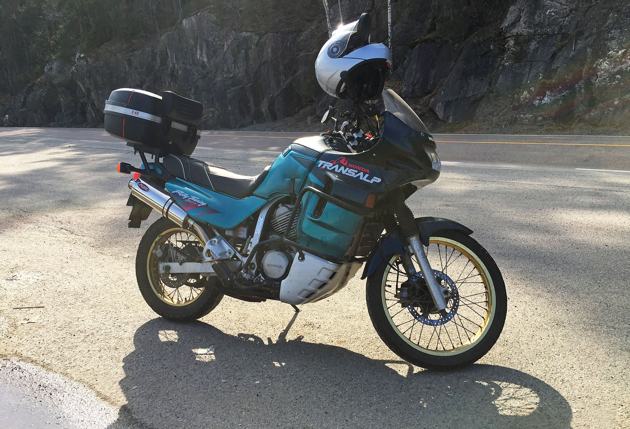 Honda XL600V Transalp first ride 2018