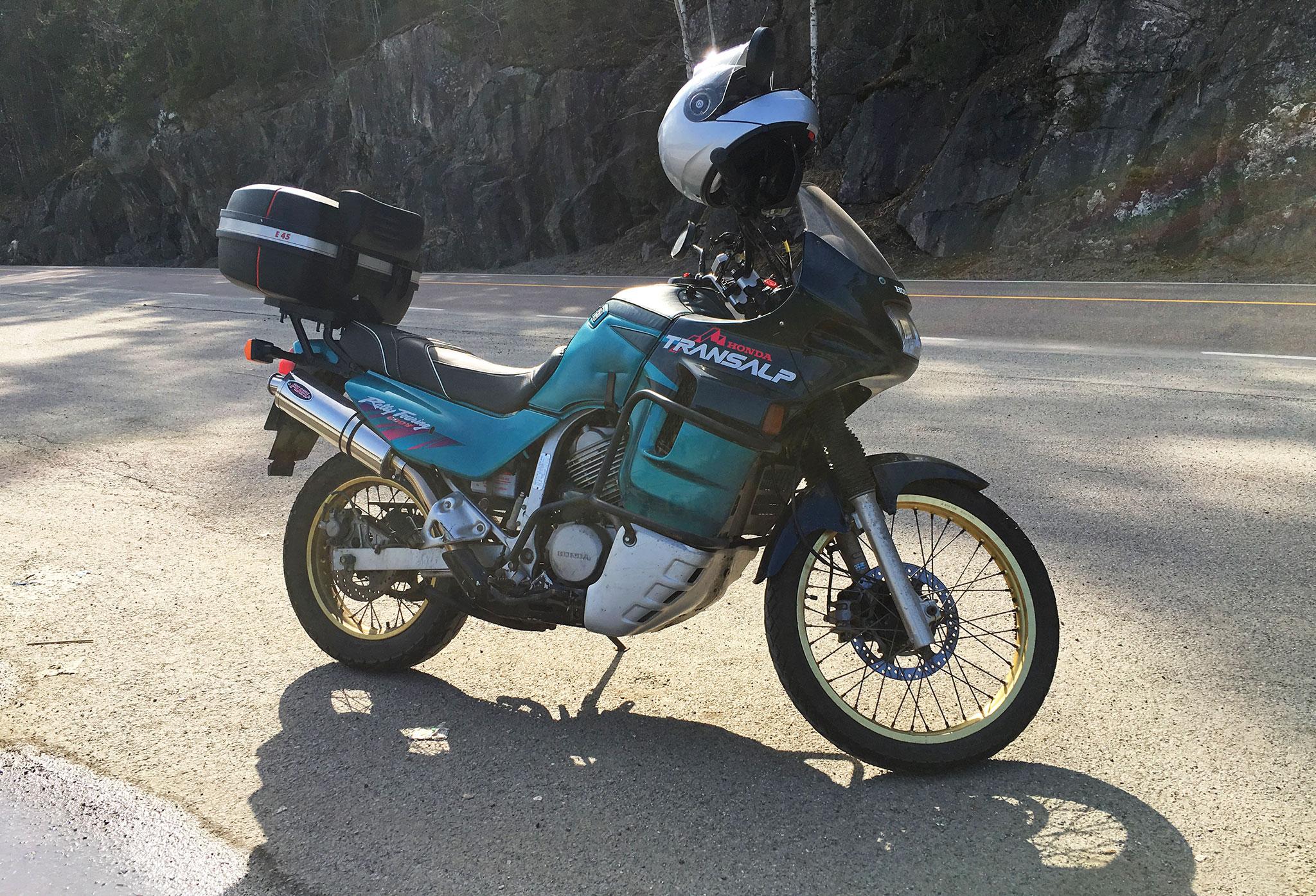 Honda XL600V Transalp first ride 2018