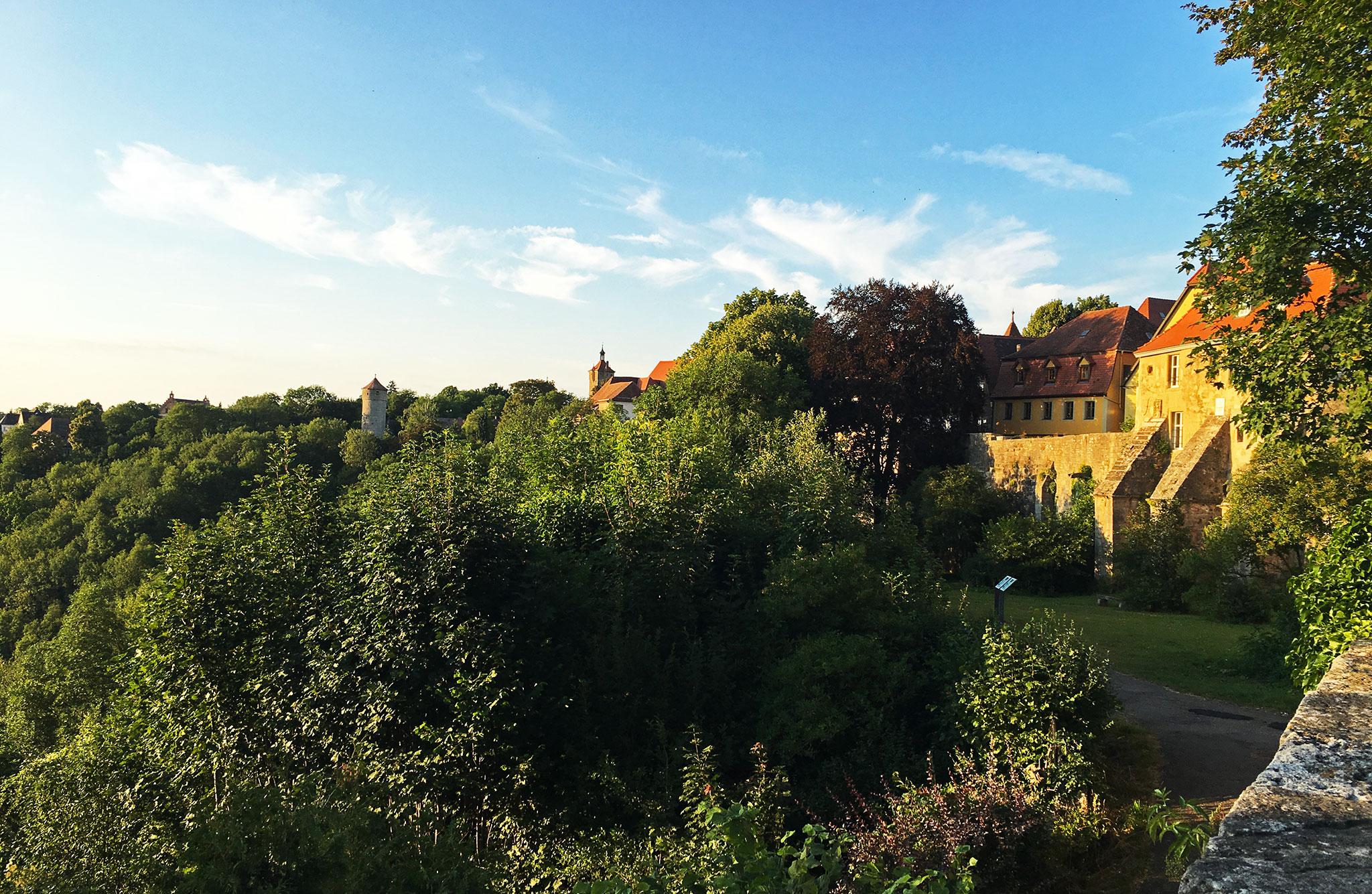 Rothenburg castle garden