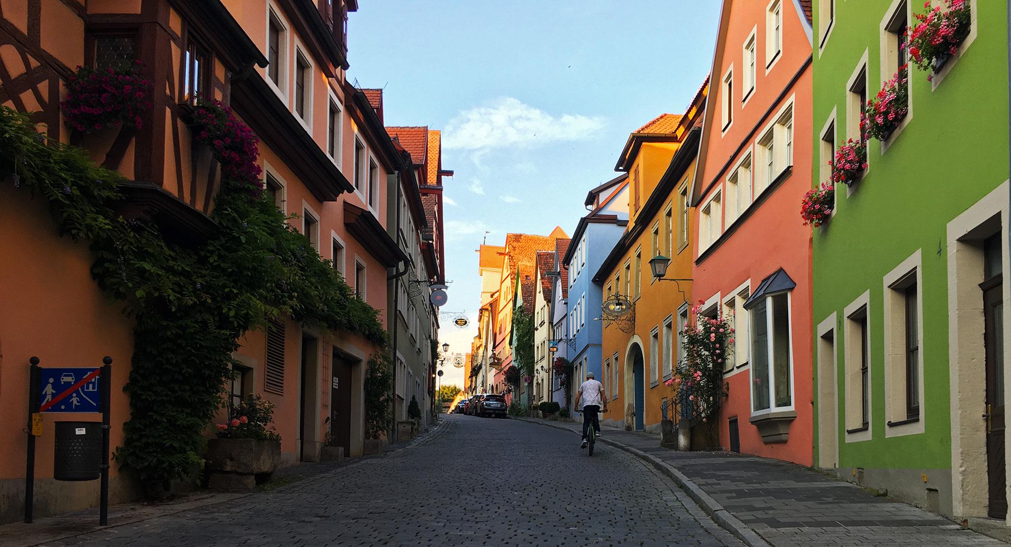 Rothenburg cobblestone street