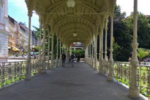 Another old wood & metal walkway in Karlovy Vary,