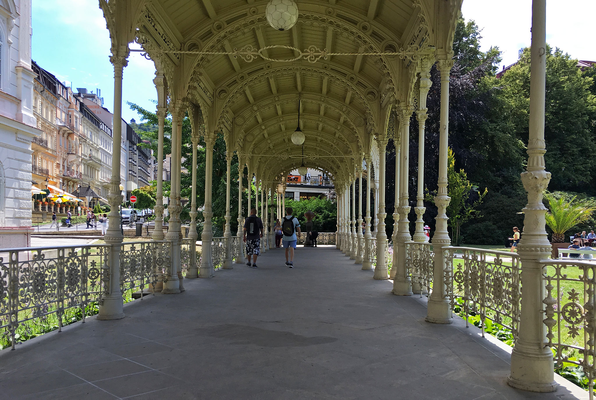 Another old wood & metal walkway in Karlovy Vary,