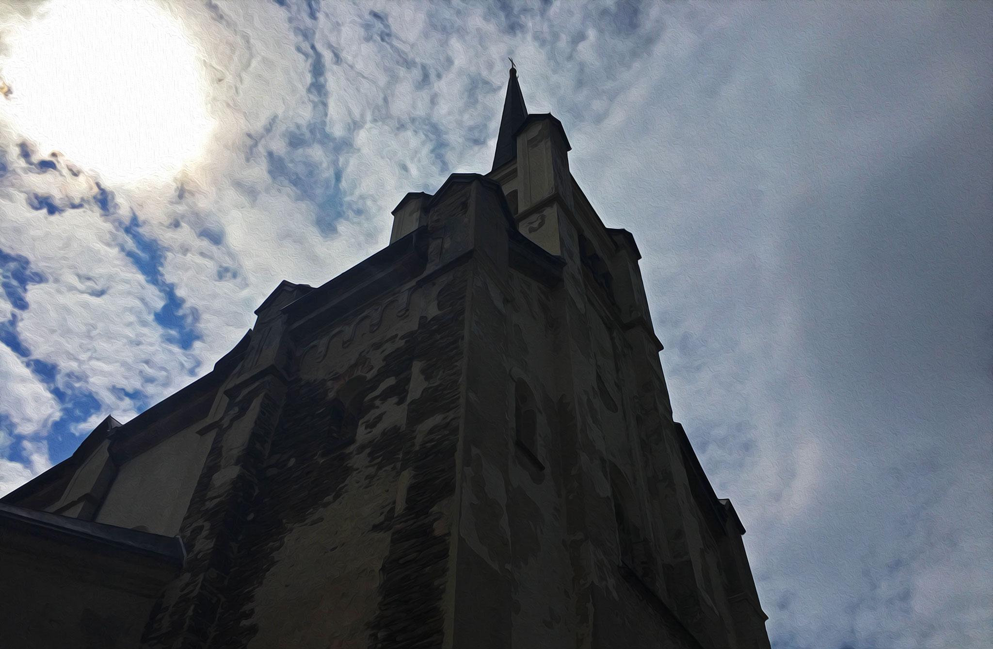 Kostel svatého Václava from the 15th century, in the village of Výsluní