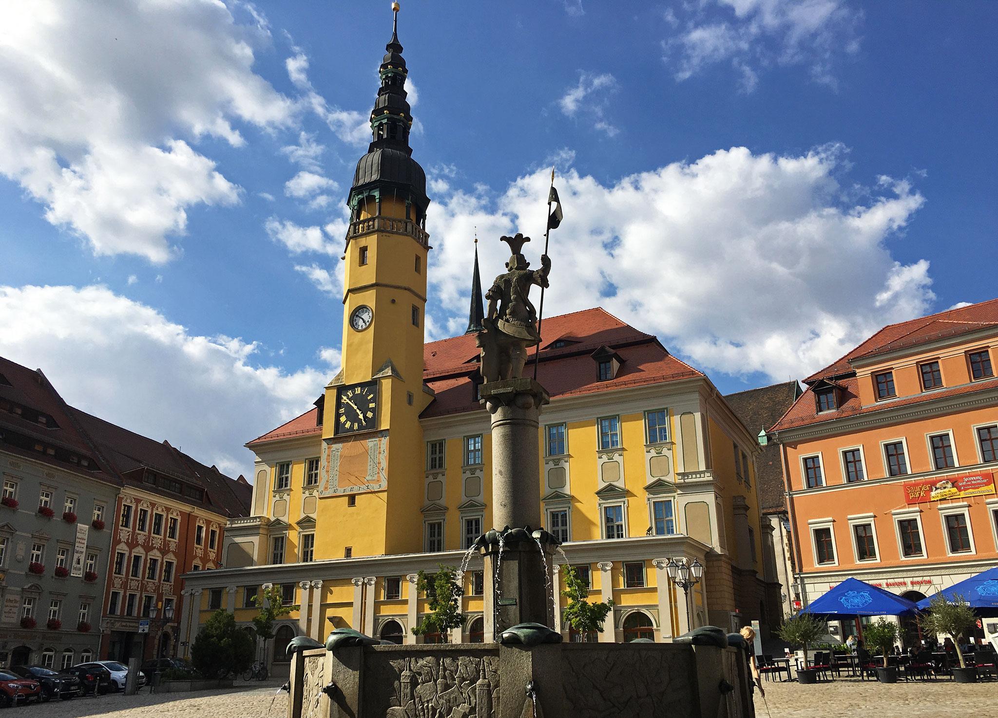 Coffe break at the Bautzen main square