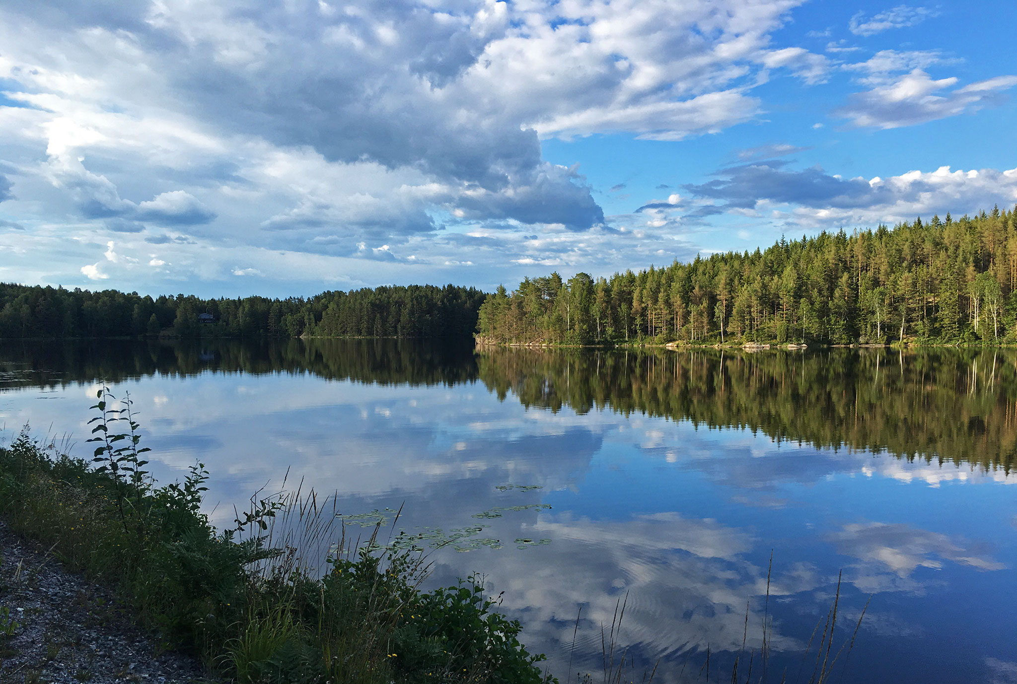Lots of lakes in the region close to the Norwegian border
