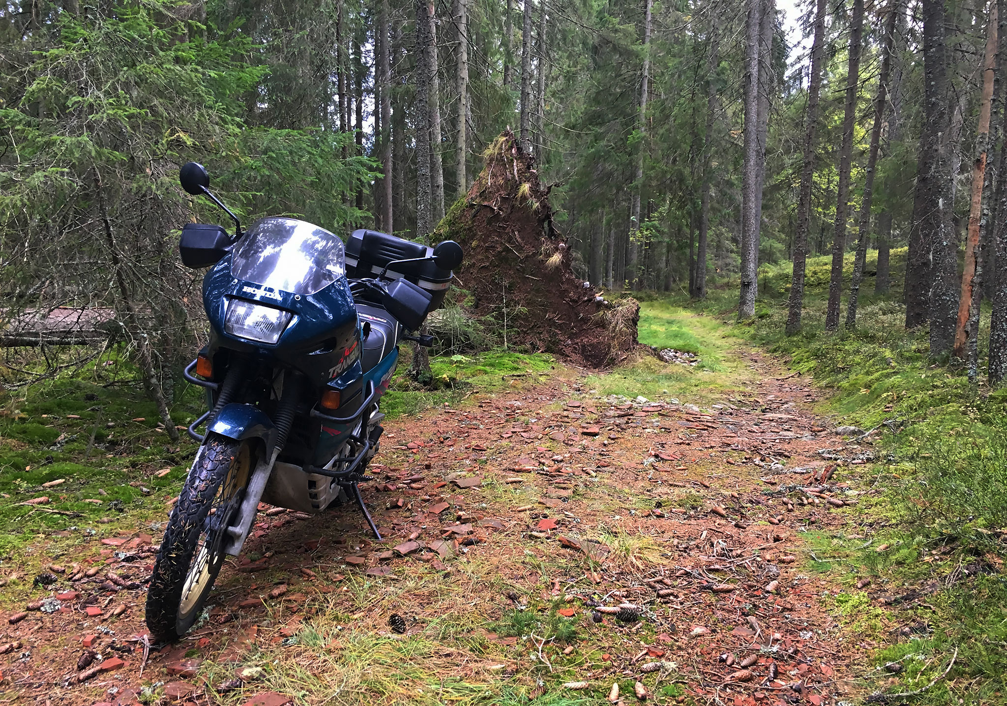 Michelin Sirac on Honda Transalp, September 2018