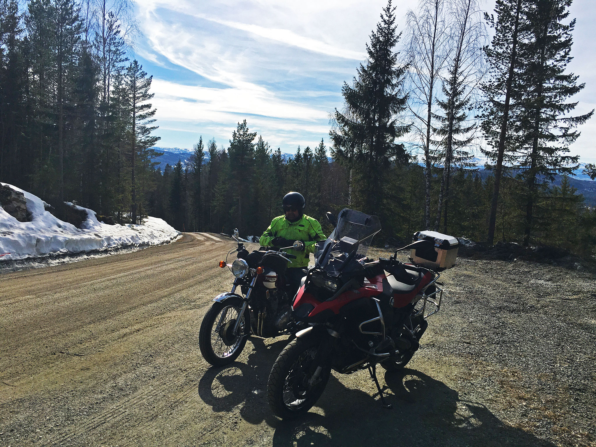 Spring riding: along the not so gravel oriented road