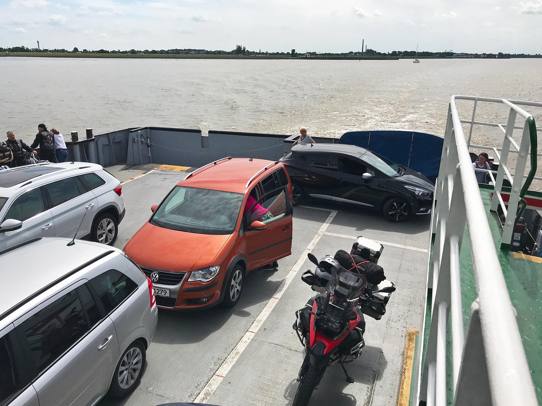 On the Wischhafen ferry