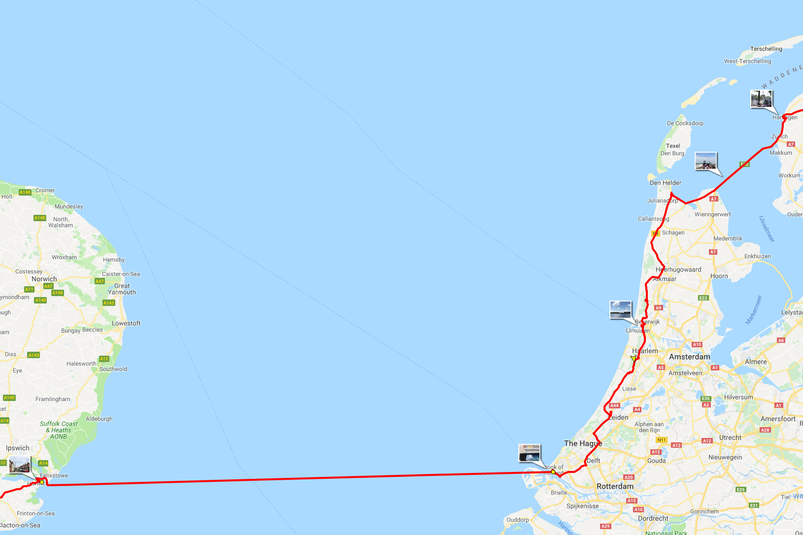Channel crossing and Netherlands