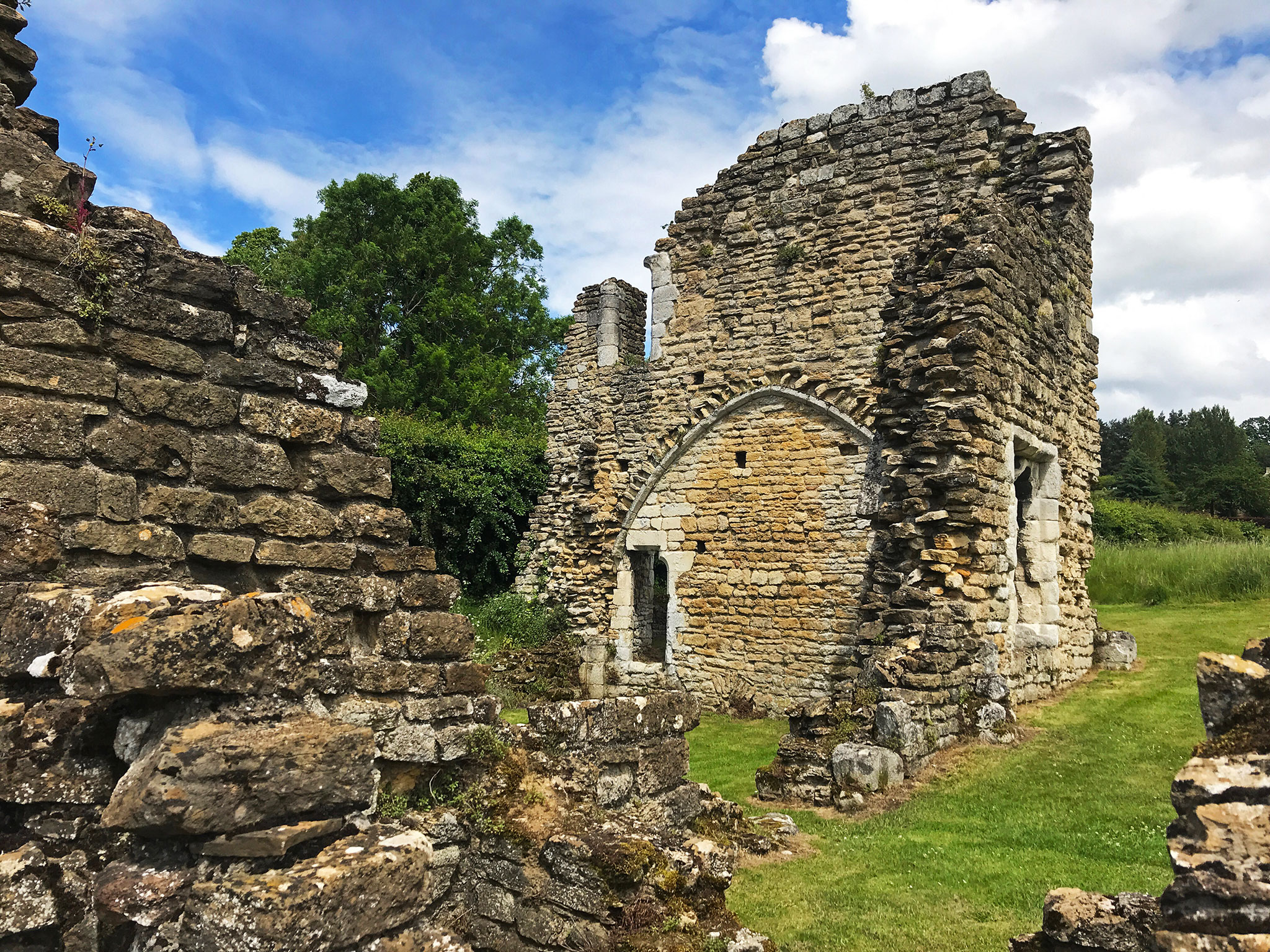 The Kirkham Priory ruins
