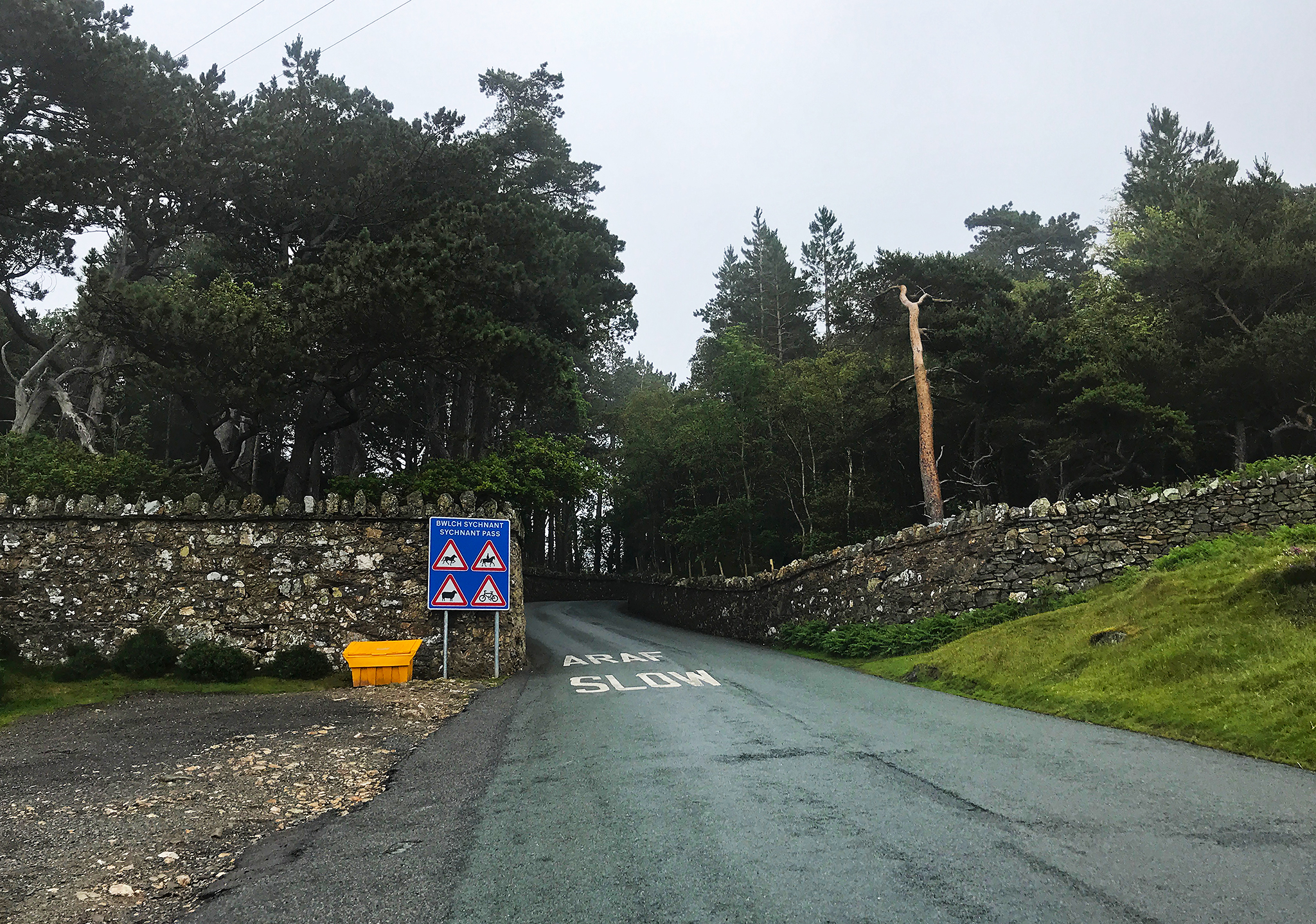 Sychnant Pass and road