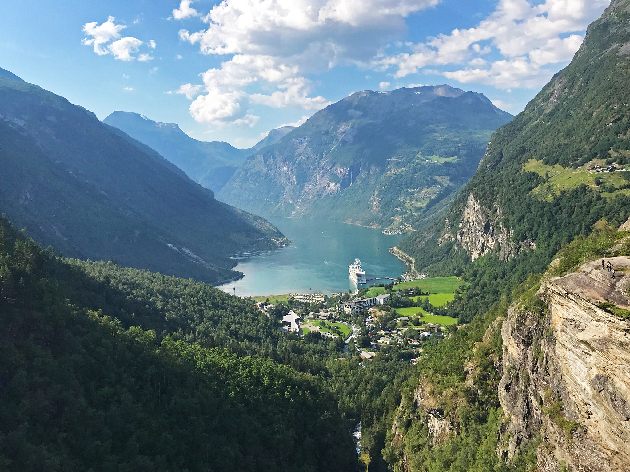Geiranger and Geirangerfjord, Norway late July 2019