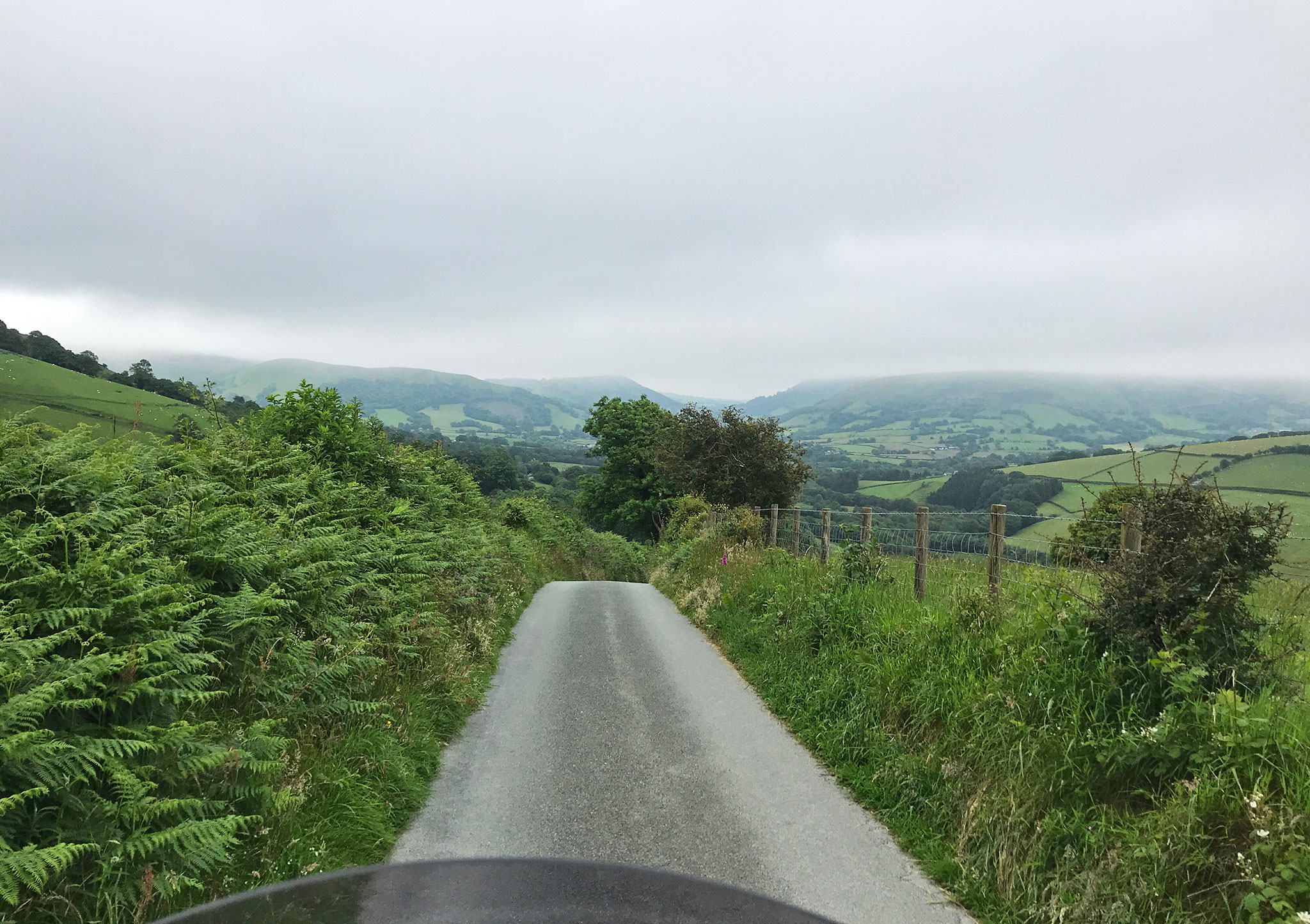 Mid Wales, Farm roads all over