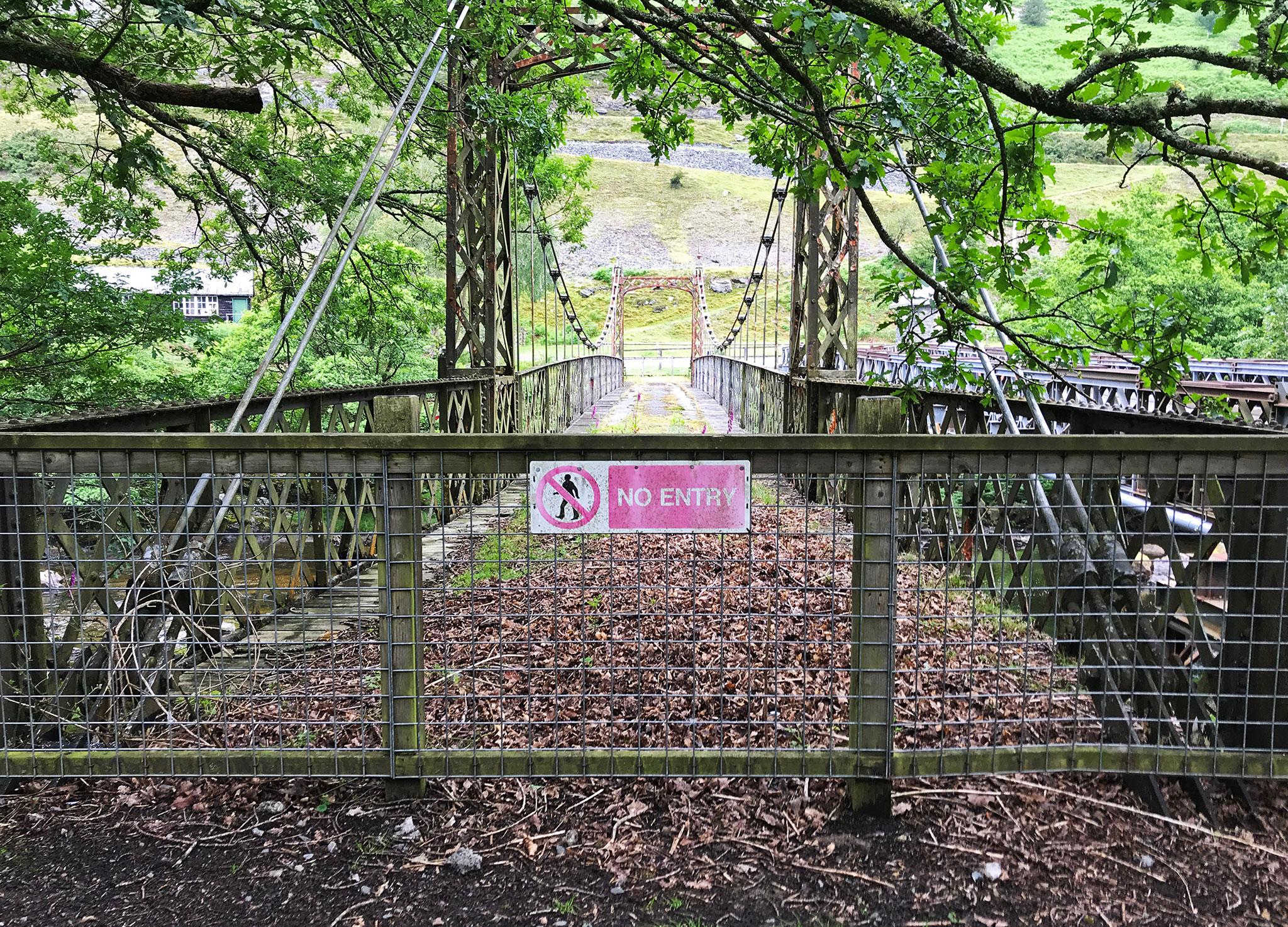 Old suspension bridge
