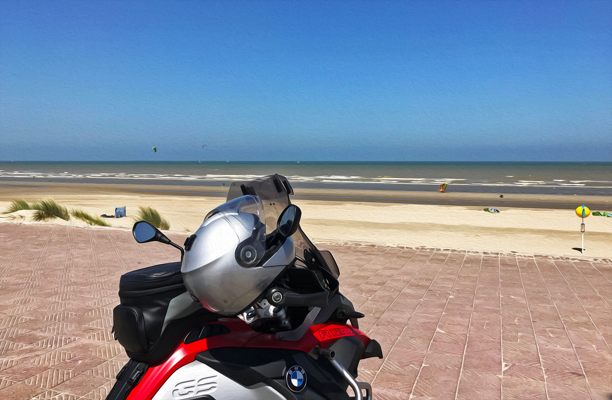Going east: at the beaches of Dunkirk