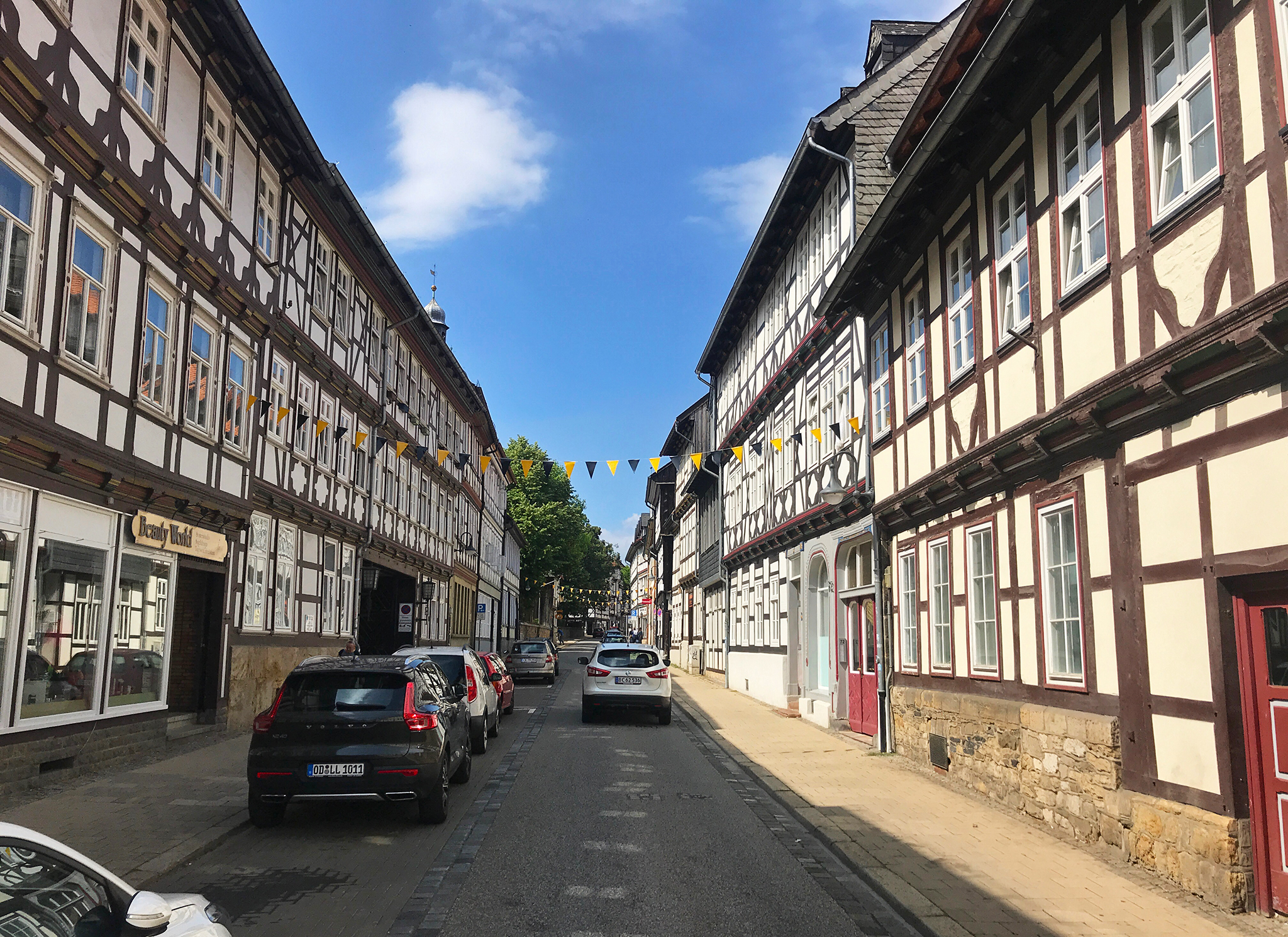 Street view in the old part of Goslar