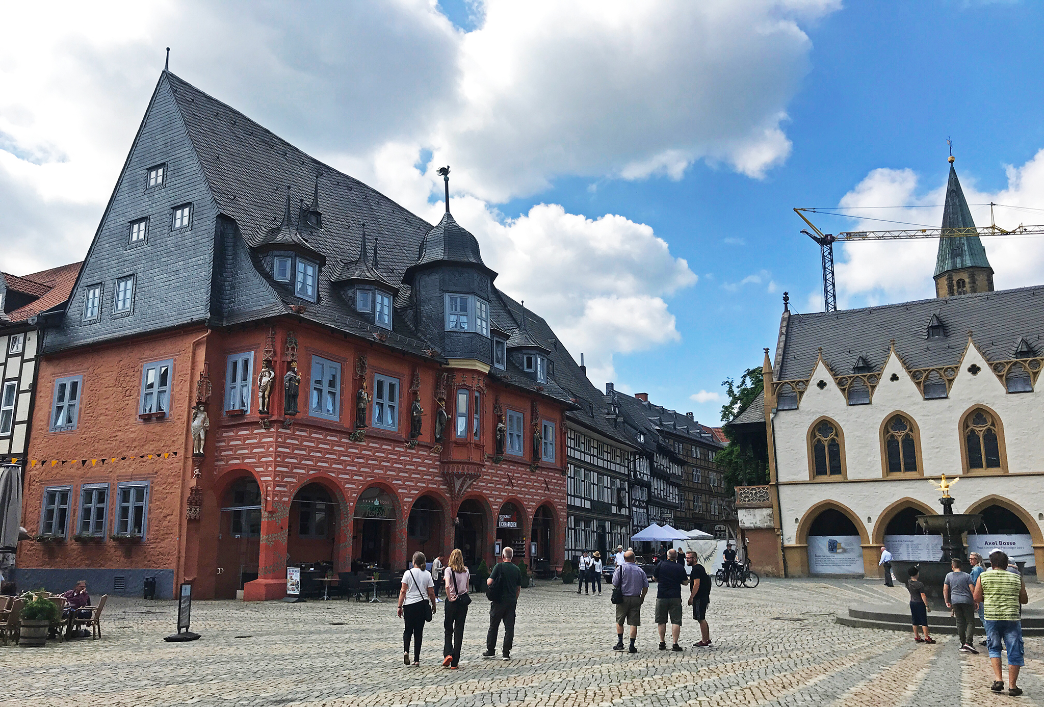 Parts of the central market square in Goslar