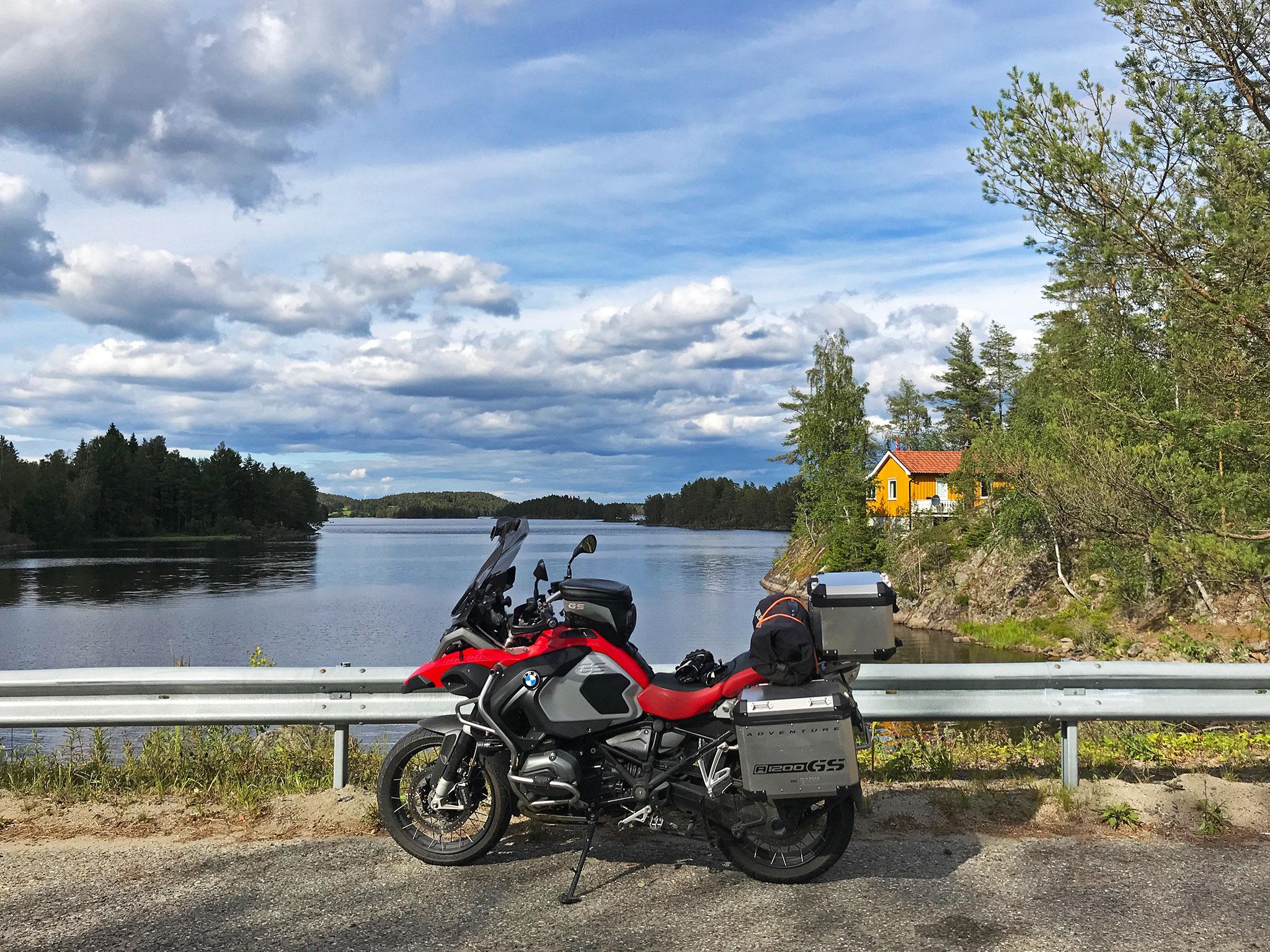 Return north: stopped at Bøensfjorden in Aremark, Norway
