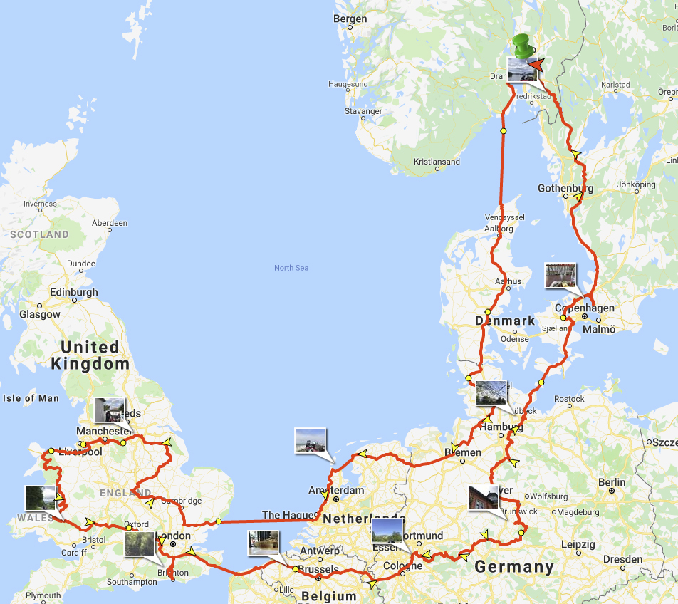 The 2019 Summer Adventure route