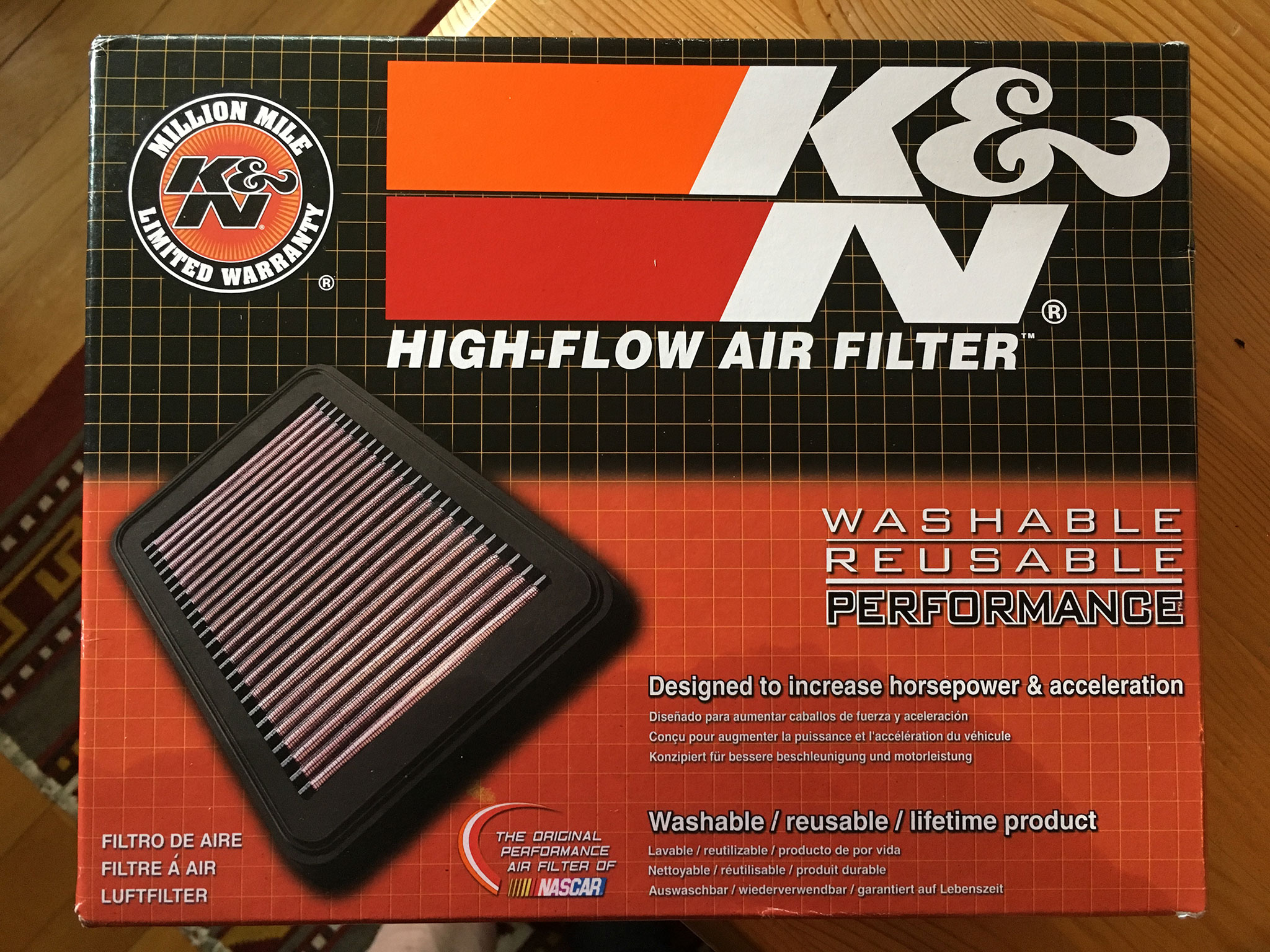 K&N BM-113 Air filter for BMW R1200GS Adventure