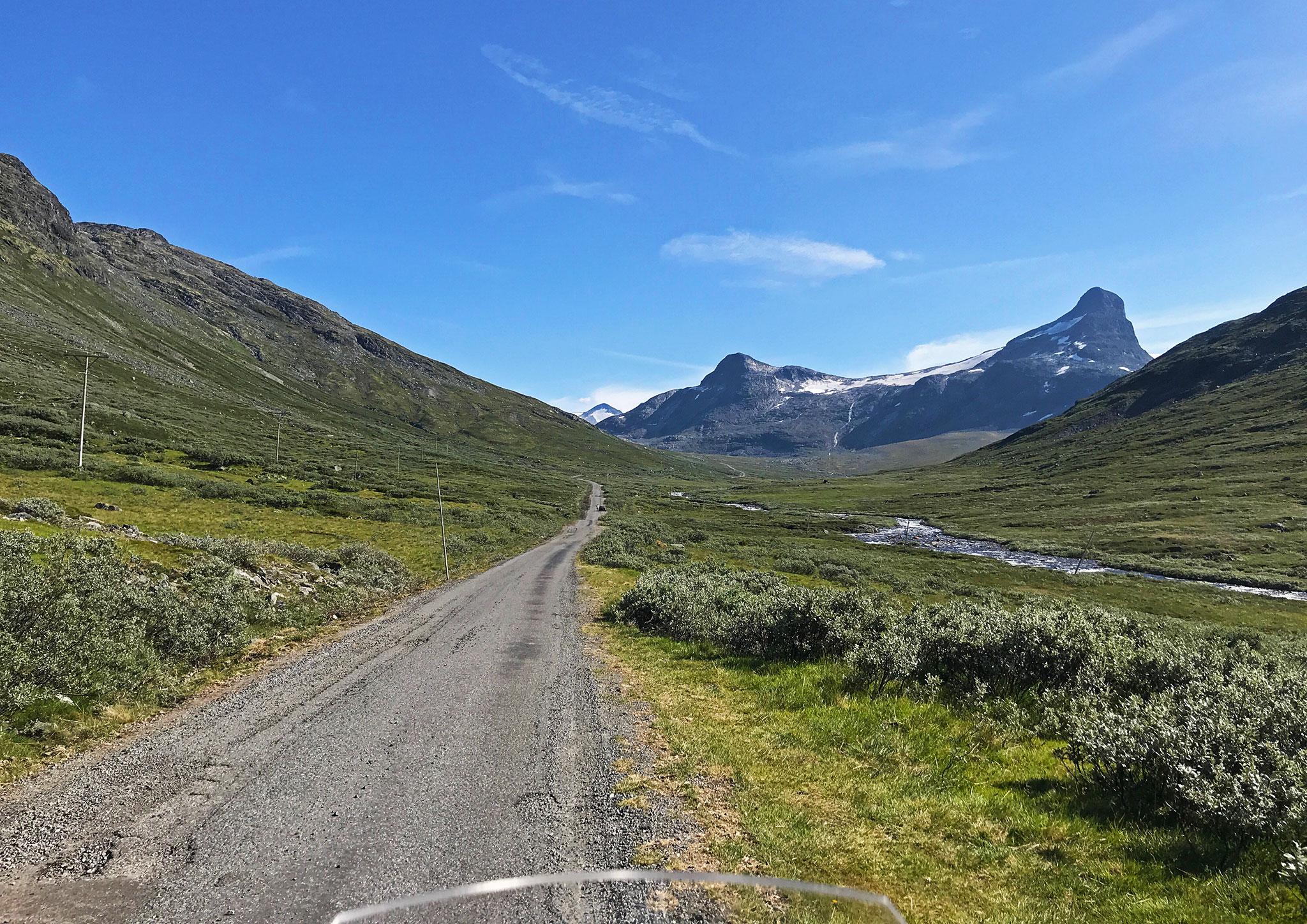 Leirdalsvegen into Leirvassbu and Jotunheimen, one of the few roads into the edge of the national park