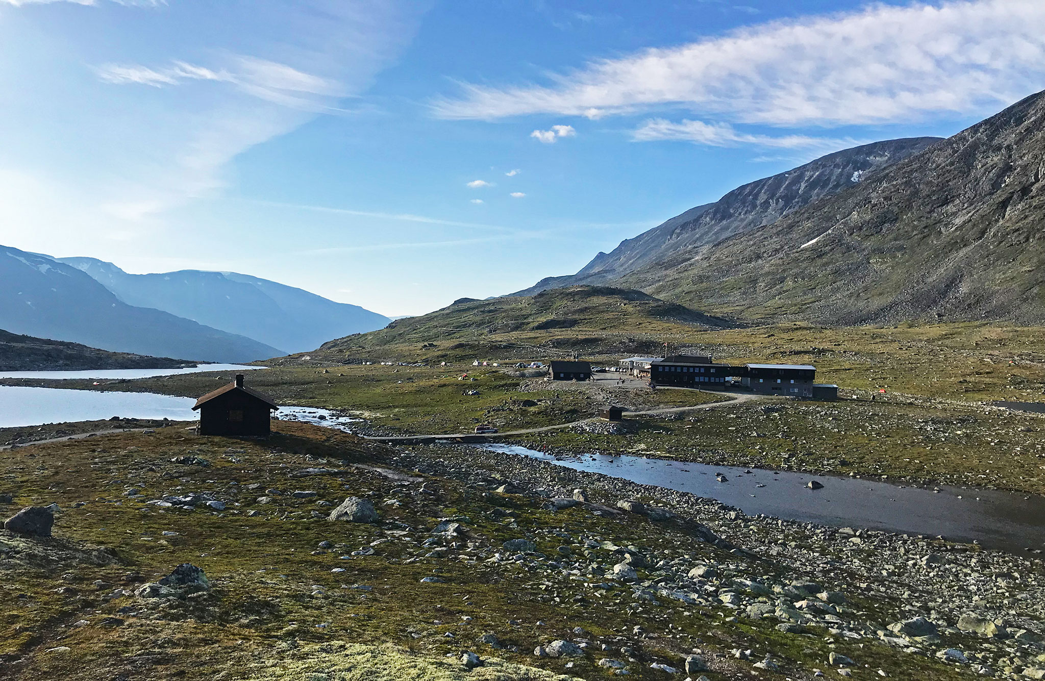 Leirvassbu in Jotunheimen, by the very border of the national reserve/park