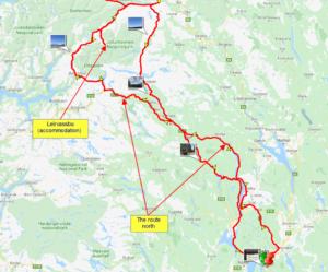 The route day 1, from Oslo to Leirvassbu, Jotunheimen national park