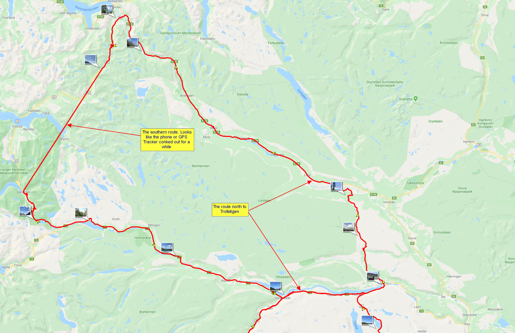 July 27th route, or most of it