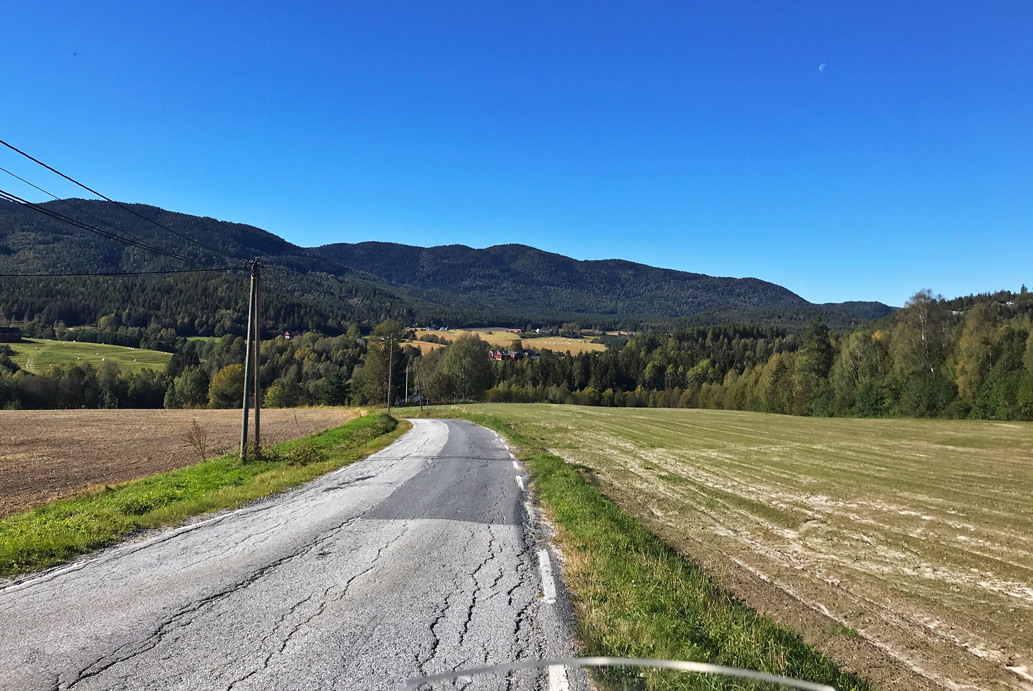 Fall riding: Back roads en route into the woods again