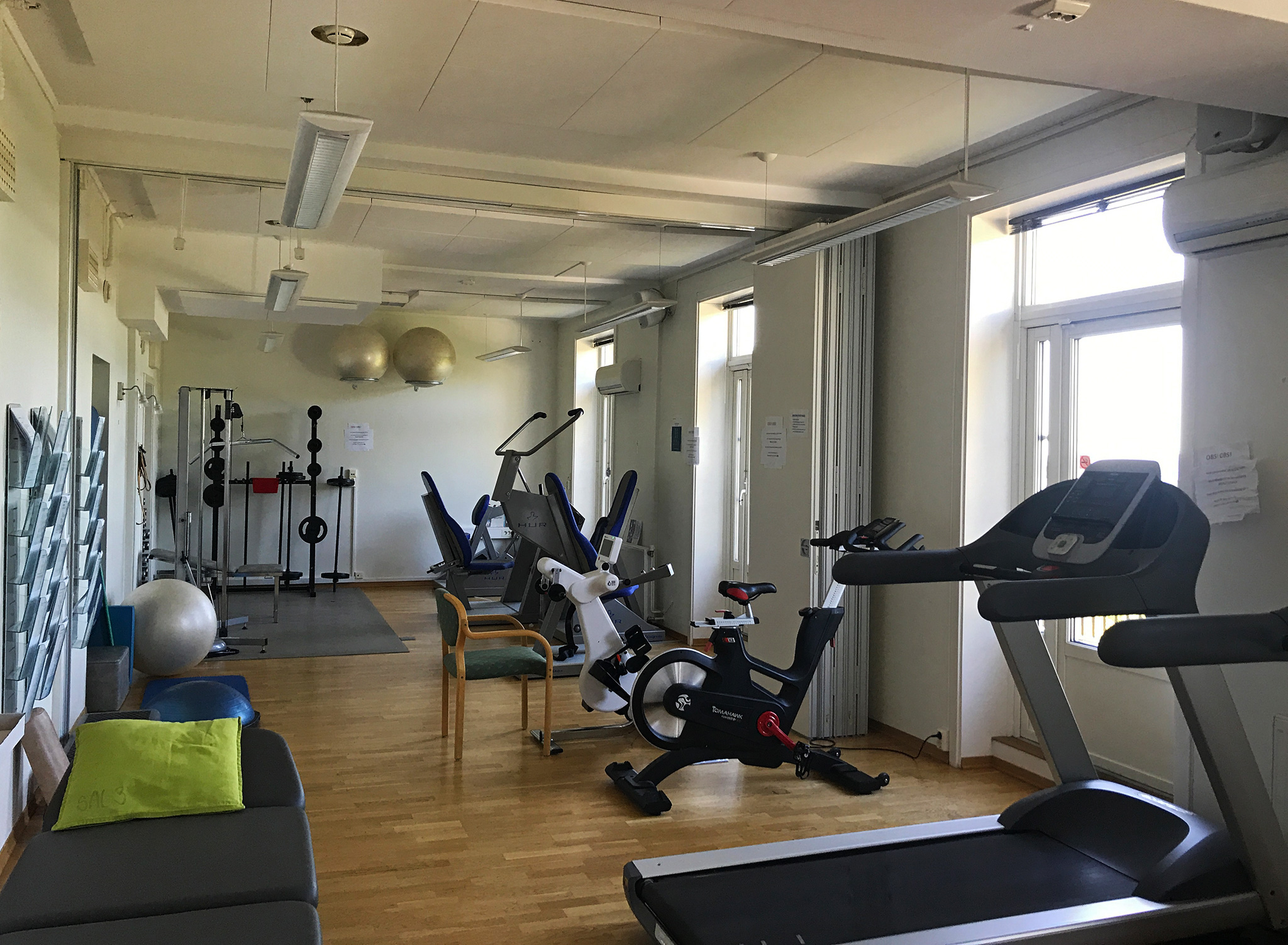 Gym at Godthaab rehab