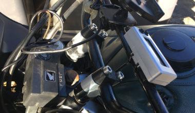 Handlebar risers on Honda XL600V transalp