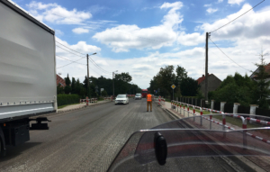 Road construction Poland picture