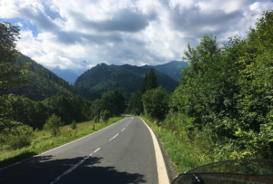 Roadside in Slovakia by the Tatra Mountains