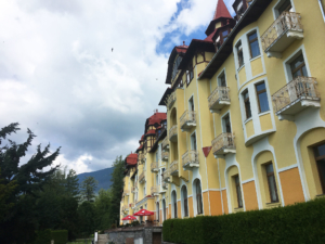 Slovakian resort or hotel along the Tatras