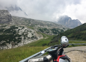 Further up the almost commanding power and presence of the Dolomites began to show