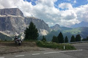 Stopped to admire Italian Dolomites