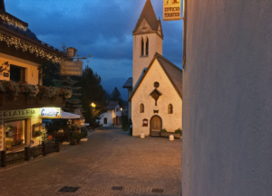Sottoguda village by night, here with a slight artistic touch