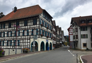 Schiltach is a town in the district of Rottweil, in Baden-Württemberg, Germany. It is situated in the eastern Black Forest, on the river Kinzig, 20 km south of Freudenstadt.